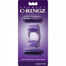 Ring C Ring Duo Super vibrator purple