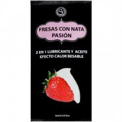 Dosettes de lubrifiants fraises crème 10 ml