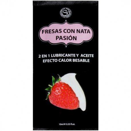 Monodosis Lubricante Fresas con Nata 10 ml