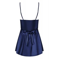 Satinia Babydoll Sexy Azul