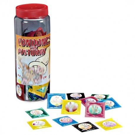 Bote de Preservativos con Posturas 100 Unidades