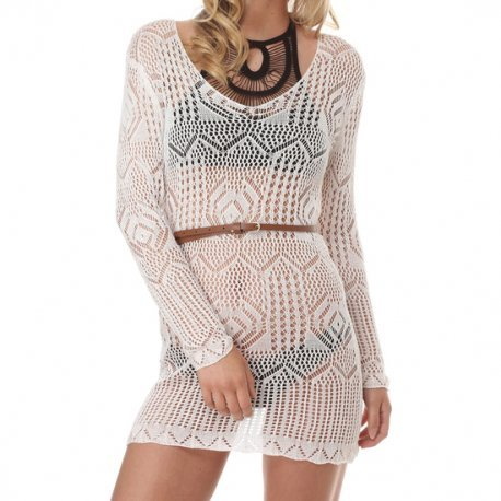 Vestido Vivara Blanco Semitransparente