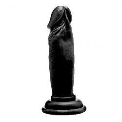 Realrock Pene Dildo Realístico 15 cm Negro