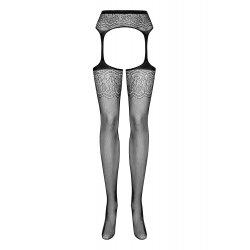 S207 Black Suspender stockings