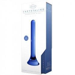 Chrystalino Tower Dildo Vidrio Azul