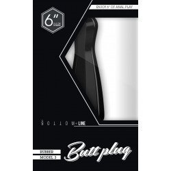 Butt Plug Tapón Modelo 3 Negro