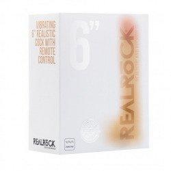 Realrock Pene Vibrador con Escroto 15 cm