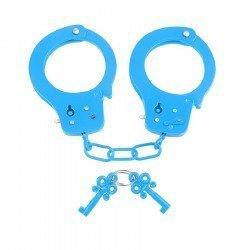 Neon blue Metal handcuffs