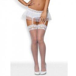 Julitta lace white stockings