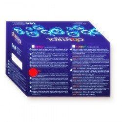 Contrôler les préservatifs fraise boîte 144 PCs.