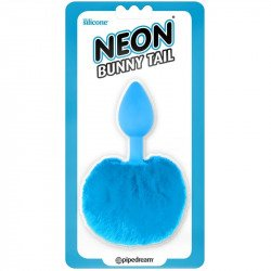 Cola Conejo Plug de Silicona Azul