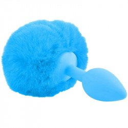 Tail rabbit blue silicone Plug