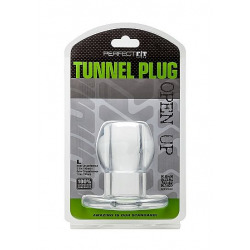 Perfect Fit Plug Tunnel Silicona Transparente L