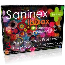 Saninex préservatifs Ibizax pointillé 3 uds