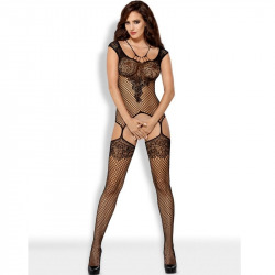 F229 maille Bodystocking noir