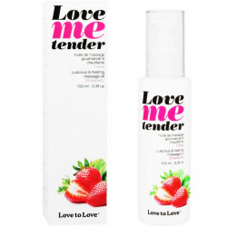 Love Me Tender massage fraise 100 ml