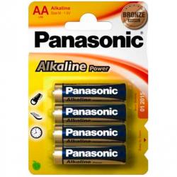 Batterie Panasonic Bronze alcalines AA 4 PCs.