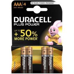 Piles Duracel Plus puissance 4 PCs AAA