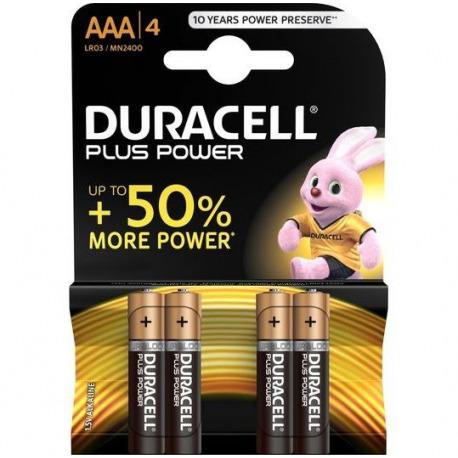 Duracel Plus Power Pilas AAA 4 Uds