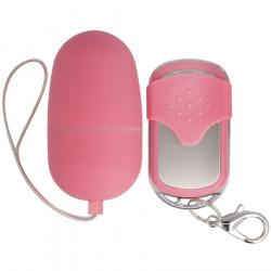 Medium Vibrating Huevo Control Remoto Rosa