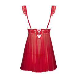 Camisón 863-Set-3 Babydoll Rojo