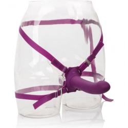 Vibrateur de ME2 grondeur violet de harnais godemichet