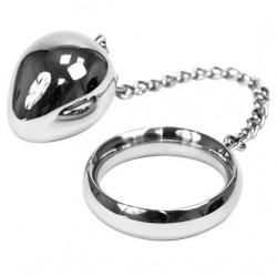 Cock Ring 45 mm + Cadena con Bola Metal