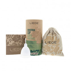 Liebe Large transparent Menstrual Cup