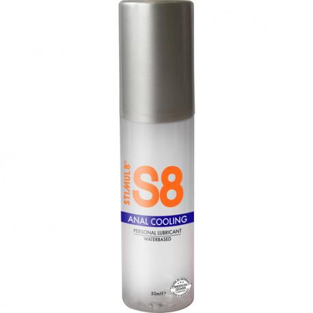 S8 Lubricante Anal Base Agua Efecto Frío