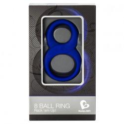 Anillo 8 Ball Blue Doble Azul