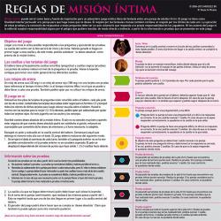 Misión Íntima Juego de Mesa