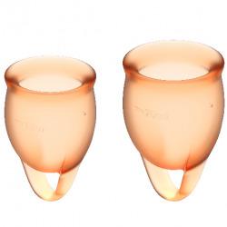 Feel Confident Orange Menstrual Cup