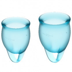 Feel Confident Blue Menstrual Cup