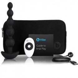 Plug con 5 Bolas Anales de Silicona con Vibración Negro