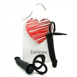 Saninex Duplex Plug Vibrador con Anillos