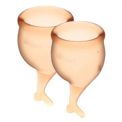 Feel Secure Copa Menstrual Naranja