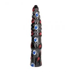 All Black Dildo Clásico 33 cm