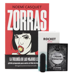 Kit Libro Zorras + Rocket Mini + Vibrador Líquido