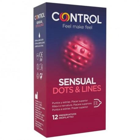 Preservativos Sensual Dots & Lines 12 Uds