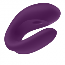 Satisfyer Double Joy Morado con App
