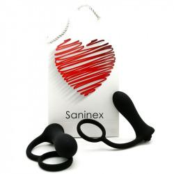 Saninex Brave Plug Vibrador con Anillo Negro