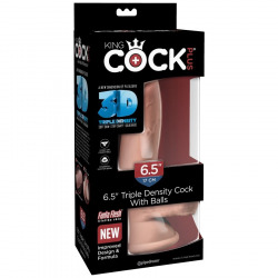 King Cock Realistic Triple Density 17cm