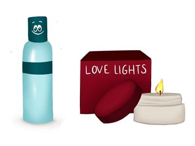 Aceites y velas de masaje