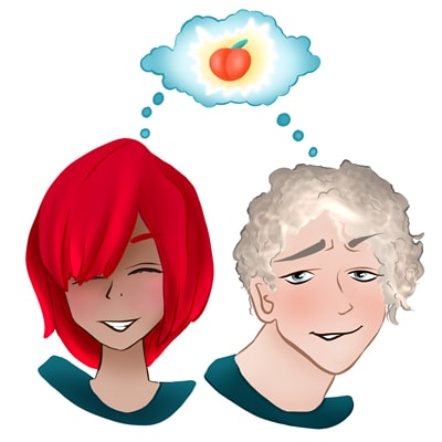 Chico y chica pensando en la estimulación anal