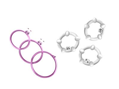 Set de anillos para el pene