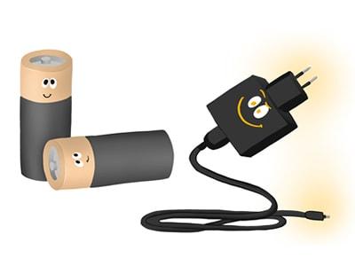 Pilas o baterías recargables