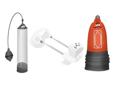Alargadores y bombas de vacío