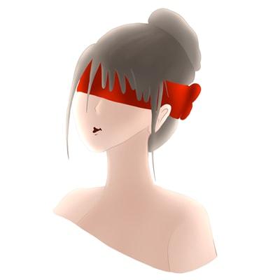 Chica con los ojos vendados